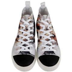 Dog Animal Pet Art Abstract Men s Mid Top Canvas Sneakers