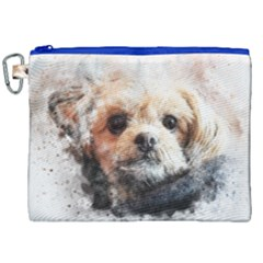 Dog Animal Pet Art Abstract Canvas Cosmetic Bag (xxl)