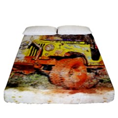Car Old Car Fart Abstract Fitted Sheet (queen Size)