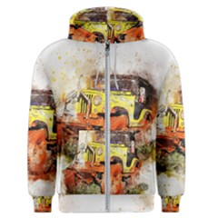Car Old Car Fart Abstract Men s Zipper Hoodie