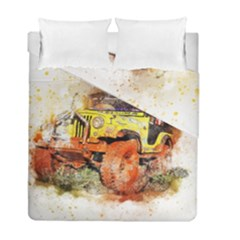 Car Old Car Fart Abstract Duvet Cover Double Side (full/ Double Size)