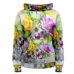 Flowers Vase Art Abstract Nature Women s Pullover Hoodie