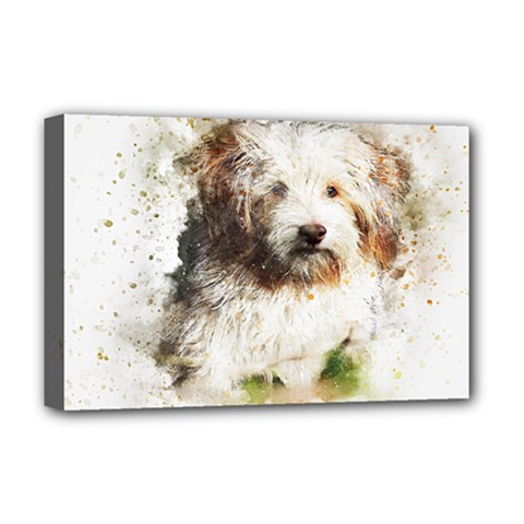 Dog Animal Pet Art Abstract Deluxe Canvas 18  X 12