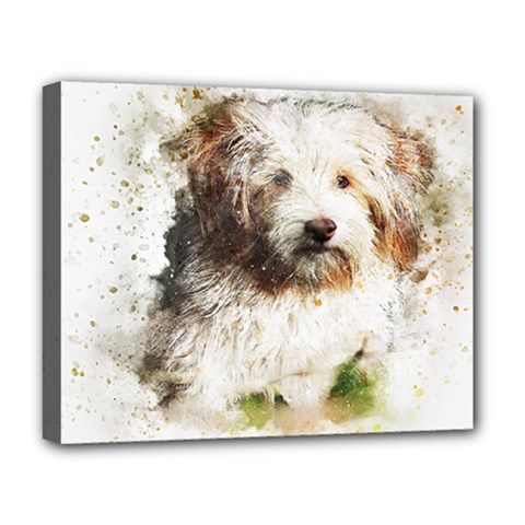Dog Animal Pet Art Abstract Deluxe Canvas 20  X 16