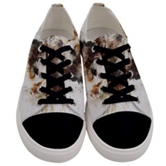 Dog Animal Pet Art Abstract Men s Low Top Canvas Sneakers