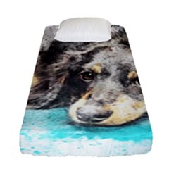 Dog Animal Art Abstract Watercolor Fitted Sheet (single Size)