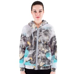 Dog Animal Art Abstract Watercolor Women s Zipper Hoodie