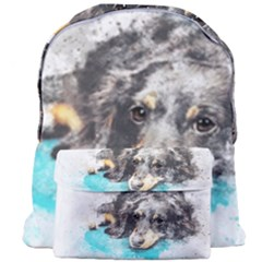 Dog Animal Art Abstract Watercolor Giant Full Print Backpack