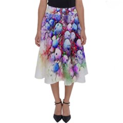 Berries Pink Blue Art Abstract Perfect Length Midi Skirt