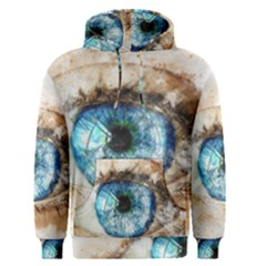 Eye Blue Girl Art Abstract Men s Pullover Hoodie