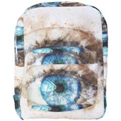 Eye Blue Girl Art Abstract Full Print Backpack