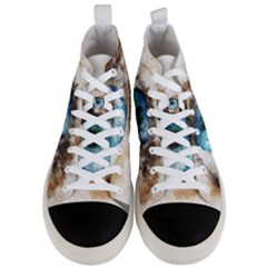 Eye Blue Girl Art Abstract Men s Mid Top Canvas Sneakers