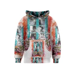 Window Flowers Nature Art Abstract Kids  Pullover Hoodie
