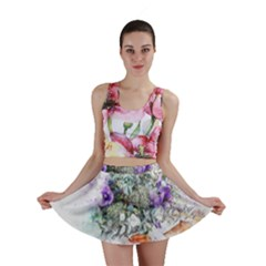 Flowers Bouquet Art Abstract Mini Skirt