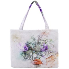 Flowers Bouquet Art Abstract Mini Tote Bag