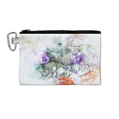 Flowers Bouquet Art Abstract Canvas Cosmetic Bag (medium)