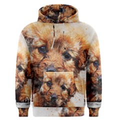 Dog Puppy Animal Art Abstract Men s Pullover Hoodie