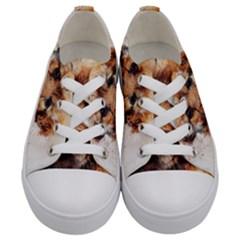 Dog Puppy Animal Art Abstract Kids  Low Top Canvas Sneakers