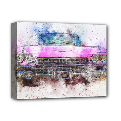 Pink Car Old Art Abstract Deluxe Canvas 14  X 11