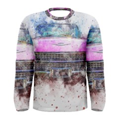 Pink Car Old Art Abstract Men s Long Sleeve Tee