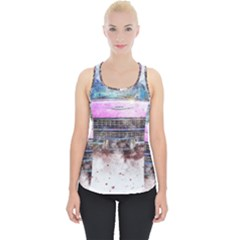 Pink Car Old Art Abstract Piece Up Tank Top