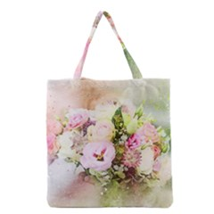 Flowers Bouquet Art Abstract Grocery Tote Bag