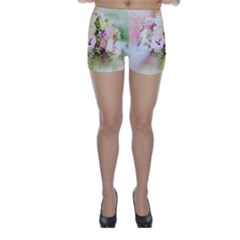 Flowers Bouquet Art Abstract Skinny Shorts