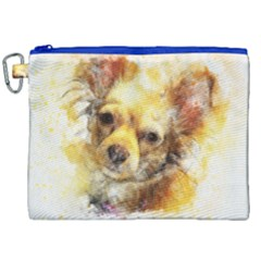 Dog Animal Art Abstract Watercolor Canvas Cosmetic Bag (xxl)