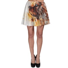 Dog Animal Pet Art Abstract Skater Skirt