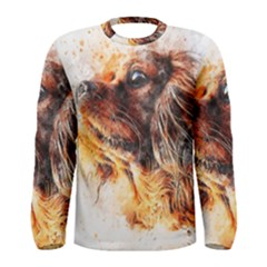 Dog Animal Pet Art Abstract Men s Long Sleeve Tee