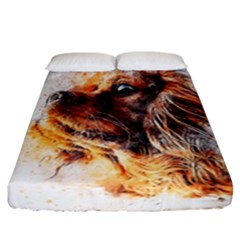 Dog Animal Pet Art Abstract Fitted Sheet (california King Size)