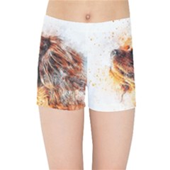 Dog Animal Pet Art Abstract Kids Sports Shorts