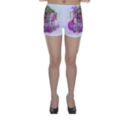 Window Flowers Nature Art Abstract Skinny Shorts