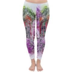 Window Flowers Nature Art Abstract Classic Winter Leggings