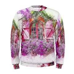 Window Flowers Nature Art Abstract Men s Sweatshirt