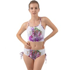 Window Flowers Nature Art Abstract Mini Tank Bikini Set