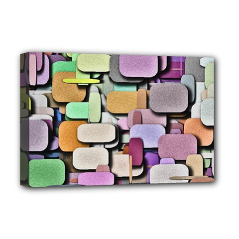 Background Painted Squares Art Deluxe Canvas 18  X 12