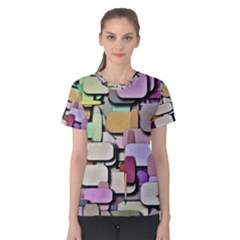 Background Painted Squares Art Women s Cotton Tee