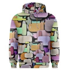 Background Painted Squares Art Men s Pullover Hoodie