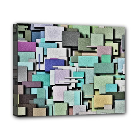 Background Painted Squares Art Canvas 10  X 8