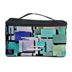 Background Painted Squares Art Cosmetic Storage Case