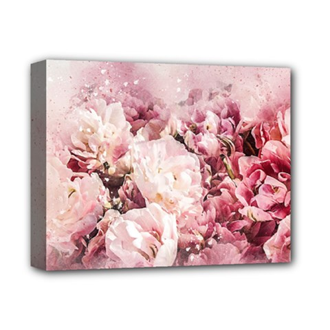 Flowers Bouquet Art Abstract Deluxe Canvas 14  X 11