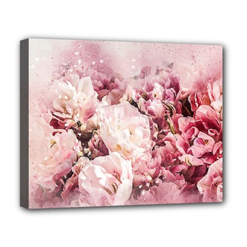 Flowers Bouquet Art Abstract Deluxe Canvas 20  X 16