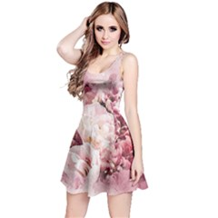 Flowers Bouquet Art Abstract Reversible Sleeveless Dress