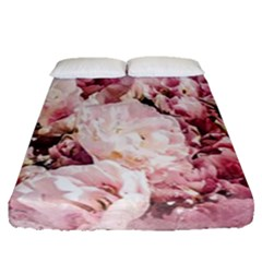 Flowers Bouquet Art Abstract Fitted Sheet (queen Size)