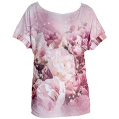 Flowers Bouquet Art Abstract Women s Oversized Tee