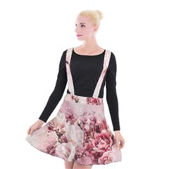 Flowers Bouquet Art Abstract Suspender Skater Skirt