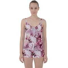Flowers Bouquet Art Abstract Tie Front Two Piece Tankini