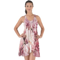 Flowers Bouquet Art Abstract Show Some Back Chiffon Dress