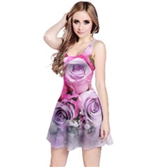 Flowers Roses Bouquet Art Abstract Reversible Sleeveless Dress
